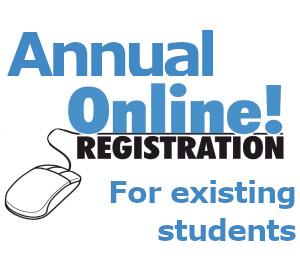 Online Registration for Existing Students